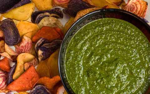 Garlicky Kale and Spinach Dip for New Years Party