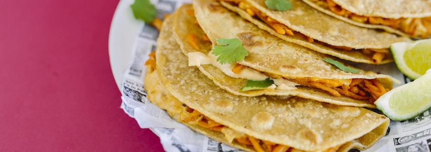 Mexican Sweet Potato Quesadillas